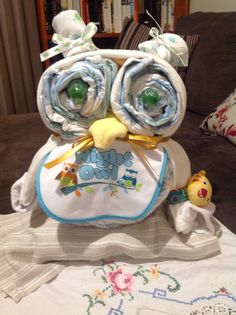 My 8 year old asked me to make this cute nappy owl for a teacher at school Nappy Cakes, 8 Year Olds, Owl, Teacher, School, Children, Cute, Baby, Inspiration