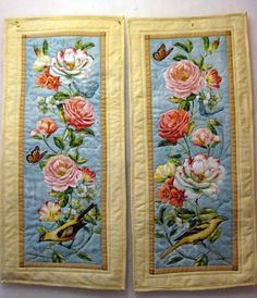 Shabby Chic quilted wall hanging Song Birds by KellettKreations, $29.00