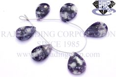 Morado Purple Opal Faceted Pear (Quality AA) Shape: Pear Faceted Length: 18 cm Weight Approx: 22 to 24 Grms. Size Approx: 19x27 to 20x29 mm Price $89.70 Each Strand