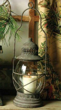 Antique Lanterns, Rustic Lanterns, Lanterns Decor, Antique Lamps, Candle Lanterns, Vintage Lamps, Hanging Lantern Lights, Lantern Lamp, Fairy Lights