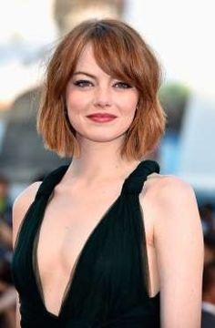 Emma Stone es una de las actrices que mejor lleva el pelo corto. Ella lo lleva por encima del hombre... - Copyright © 2017 Hearst Magazines, S.L.
