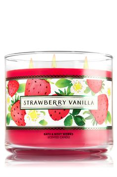 Strawberry Vanilla 3-Wick Candle - Home Fragrance 1037181 - Bath & Body Works ❤️☺️❤️☺️❤️☺️❤️☺️❤️
