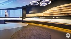 Mercedes-Benz Brand Space | danpearlman Exhibition Booth Design, Exhibition Display, Futuristic Interior, Luxury Interior, Car Expo, Girl Drawing Pictures, Mercedes Benz, Ceiling Installation, Showroom Design