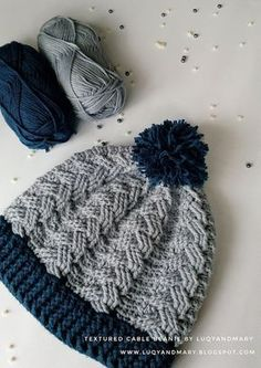 16d7d3521edda Luqy and Mary YarnWorks  Crochet Cable Beanie Written Pattern