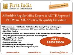 Best MBA /PGDM option in Delhi NCR http:// www.fisb.in