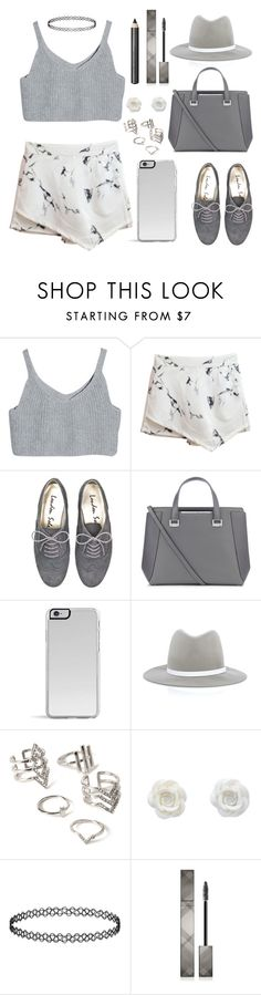 """""""gray"""" by skittlebum ❤ liked on Polyvore featuring Jimmy Choo, rag & bone, Forever 21, Topshop and Burberry"""