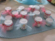 Beach Baby Shower - Recycled Baby Food Jars - Salt Water Taffy Favors
