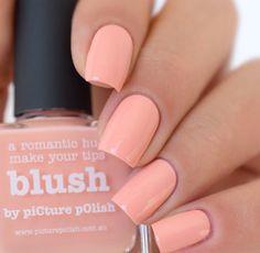 Subtle blush nail polish
