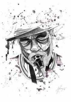 Illustration of random jazz musician