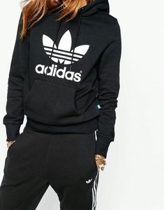 Adidas Sweater Womens Size s-xl Women Black - black sweatshirt womans - Woman Sweatshirts Athletic Outfits, Sport Outfits, Casual Outfits, Cute Outfits, Hiking Outfits, Adidas Shoes Outfit, Looks Adidas, Mode Adidas, Adidas Sport