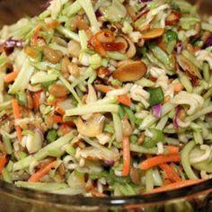 Oriental Ramen Broccoli slaw salad