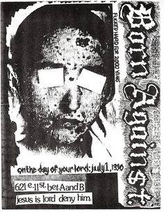 Born Against punk hardcore flyer