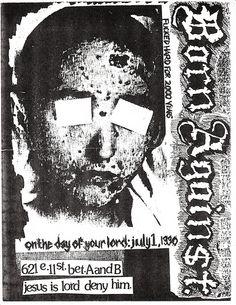 Born Against punk hardcore flyer