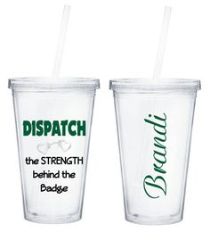 Dispatch Tumbler The Strength Behind The Badge Cup LEOW Sheriff Police Law Enforcement Deputy Personalized Custom Department on Etsy, £9.20