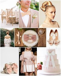 blush bow bride wedding ideas - I love the bag!