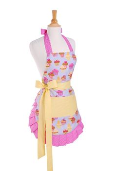 FLIRTY APRONS Women's Apron Frosted Cupcake $26.95 OUT THE DOOR! LOWEST PRICE GUARANTEE PICK UP OR WE WILL SHIP FREE LARGE SELECTION OF BEAUTIFUL KITCHENWARES ON OUR WEBSITE http://lacuisinallc.mybigcommerce.com/