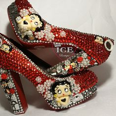 Betty Boop Chunky Heel Platform Pumps from The Ice Boutique