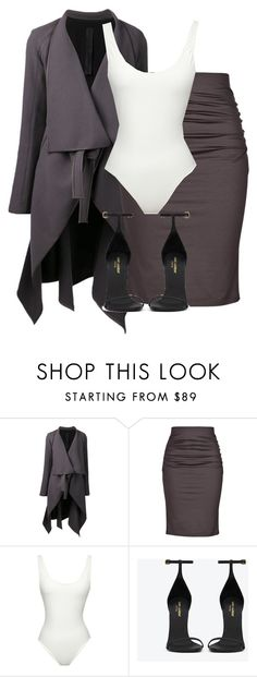 """Untitled #185"" by pariszouzounis ❤ liked on Polyvore featuring Gareth Pugh, Paule Ka, Solid & Striped and Yves Saint Laurent"