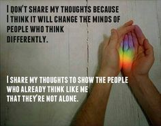 You're not alone #LGBT #Equality #GayRights