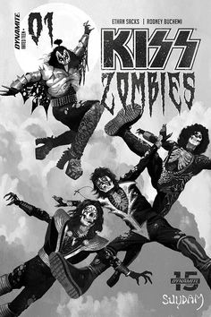 KISS fights zombies in the upcoming, aptly titled KISS: Zombies, coming in November from Dynamite. Online Comic Books, Comic Book Publishers, Free Comic Books, El Rock And Roll, Classic Rock And Roll, A Clash Of Kings, Diamond Comics, Hot Band, Band Posters