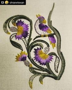 @ohsewtexan #broderie #bordado #ricamo #embroidery #needlework #crewel #handembroidery