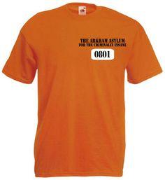 £8.99 = Batmans joker and two face prison tshirts