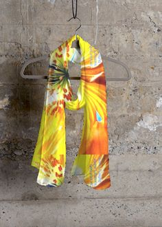 Cashmere Silk Scarf - Splash floral by VIDA VIDA 1S16us1