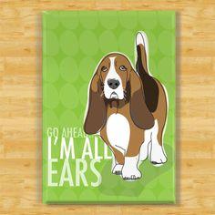 Basset Hound Dog Magnet - All Ears. $5.99, via Etsy.