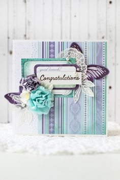 Julia Akinina Christmas Templates, Butterfly Cards, Fairy Dust, Ink Pads, Cardmaking, Something To Do, Birthday Cards, Congratulations, Birthdays