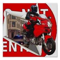 Dual Sport Motorcycle Multi Street Six Twenty Poster