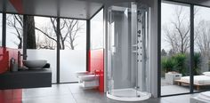 Contemporary & Minimalist Steam Shower Cabins from Jacuzzi