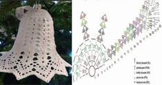 Crochet Lace Edging, Thread Crochet, Crochet Stitches, Crochet Hooks, Free Crochet, Crochet Christmas Trees, Christmas Crochet Patterns, Crochet Ornaments, Christmas Crafts