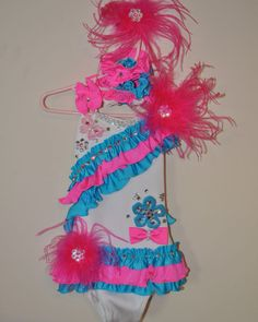 Pageant Glitz Swim Wear (Blue and Pink)