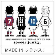 <MADE IN フランス !> 「彼は素晴らしい。僕らが見てきた中で最高に滑らかなプレーをするサッカー選手です」というメッセージがプリントされてます☆