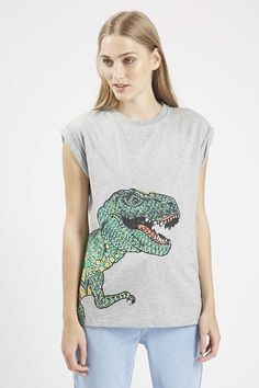 Photo 3 of T-Rex Foil Print Tee By Tee And Cake