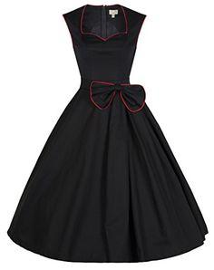 Lindy Bop Women's 'Grace' Classy Vintage 1950's Rockabilly Bow Dress (XS, Black) Lindy Bop http://smile.amazon.com/dp/B00I3YNQSI/ref=cm_sw_r_pi_dp_QTQrvb047RYKW