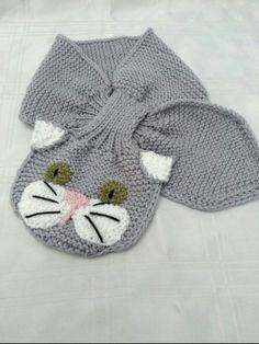 82b52b716 Bufandas para niños a crochet con sus animales favoritos