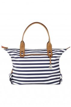 Stella & Dot How Does She Do It - Navy Stripe $89 and let me just say that celebrities were going gaga over this bag for the summer a must have amongst the celebrities!!! www.stelladot.com/sites/JudyBrito