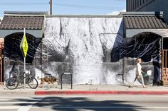 """""""The Wrinkles of the City"""" by French street artist JR (Los Angeles)"""