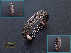 Free shippingMen copper cuff braceletWire by BernaDerinJewelry