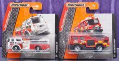 MATCHBOX 2015 LOT OF 2 BLAZE BLITZER '75 MACK CF FIRE TRUCKS HEROIC SHORT CARD #MATCHBOX