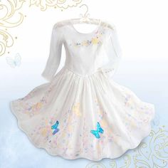 Disney - Cinderella Deluxe Wedding Costume for Girls - Live Action Film - Size All man-made materials Imported  sc 1 st  Pinterest : tinkerbell costume pattern  - Germanpascual.Com