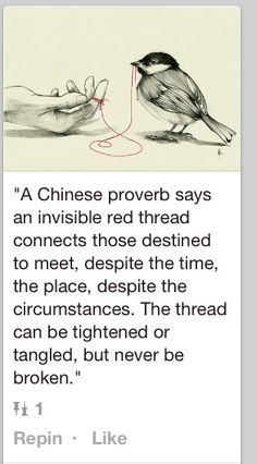 Red string. Can't get this out of my headddd