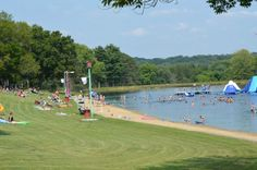 The Little-Known Swimming Hole And Campground In Ohio You Can't Pass Up Camping In Ohio, Camping Resort, The Buckeye State, Lake Park, Summer Bucket Lists, Swimming Holes, Water Slides, Beach Resorts, Places To See