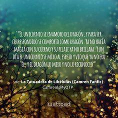 "Estoy leyendo ""La Tatuadora de Libélulas (Camren Fanfic)"" en #Wattpad. https://www.wattpad.com/107468678?utm_source=ios&utm_medium=pinterest #fanfic #quote"
