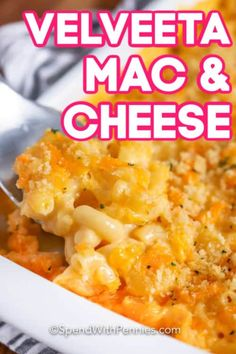 This Velveeta mac and cheese is an easy homemade recipe. Macaroni is stirred into this creamy velveeta sauce and topped with a breadcrumb topping and baked until bubbly & delicious! Mac And Cheese Recipe Baked Velveeta, Homemade Mac And Cheese Recipe Baked, Velveeta Recipes, Smoked Mac And Cheese, Best Mac N Cheese Recipe, Best Macaroni And Cheese, Easy Mac And Cheese, Macaroni Cheese Recipes, Bon Appetit