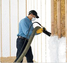 JM Spider® Custom Insulation System - provides higher insulation levels than equivalent thickness of fiberglass batt insulation or blown cellulose. Also limits air leakage at levels of dense pack cellulose.