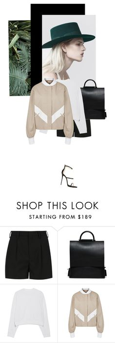 """""""Yes No"""" by no-body ❤ liked on Polyvore featuring Yves Saint Laurent, Acne Studios, Adeam and Giuseppe Zanotti"""