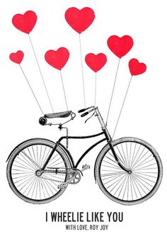 love #heart #red #bike @Danielle Lampert Annette J @Sarah Chintomby Molina reminded me of y'all ;)
