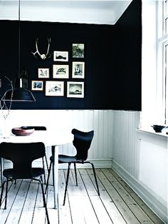 could use the black wall as a black board/inspiration board